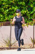 REESE WITHERSPOON Out Jogging in Brentwood 05/22/2020