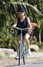 REESE WITHERSPOON Out Riding a Bike in Malibu 05/02/2020