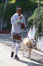 REGINA KING Out with Her Dog in Los Feliz 05/29/2020