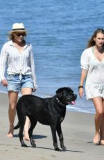 ROBIN WRIGHT and DYLAN PENN Out on the Beach in Malibu 05/25/2020