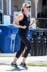 ROBIN WRIGHT Out Jogging in Santa Monica 05/20/2020