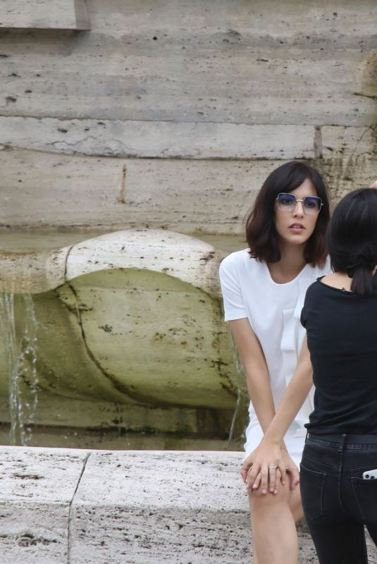 ROCIO MUNOZ MORALES at a Photoshoot at Villa Borghese in Rome 05/17/2020