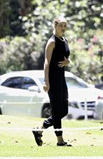 ROSIE HUNTINGTON-WHITELEY at a Park in Los Angeles 05/15/2020
