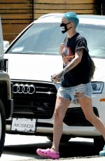 RUBY ROSE in Denim Cut Off Out in Los Angeles 05/01/2020