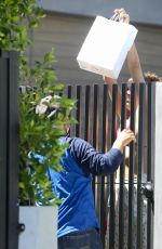 SARA SAMPAIO Gets Her Lunch at Her Home in Los Angeles 05/03/2020
