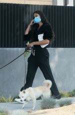 SARA SAMPAIO Out with Her Dogs in Los Angeles 05/09/2020