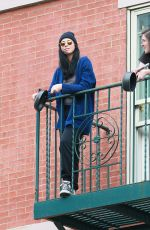 SARAH SILVERMAN at Her Fire Escape in New York 05/18/2020