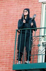 SARAH SILVERMAN on Her Fire Escape in New York 05/09/2020