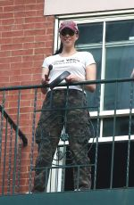 SARAH SILVERMAN on the Balcony of Her Apartment in New York 05/29/2020