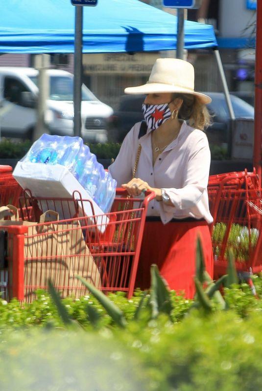 SASHA ALEXANDER Wearing a Mask at Ralphs in West Hollywood 05/07/2020