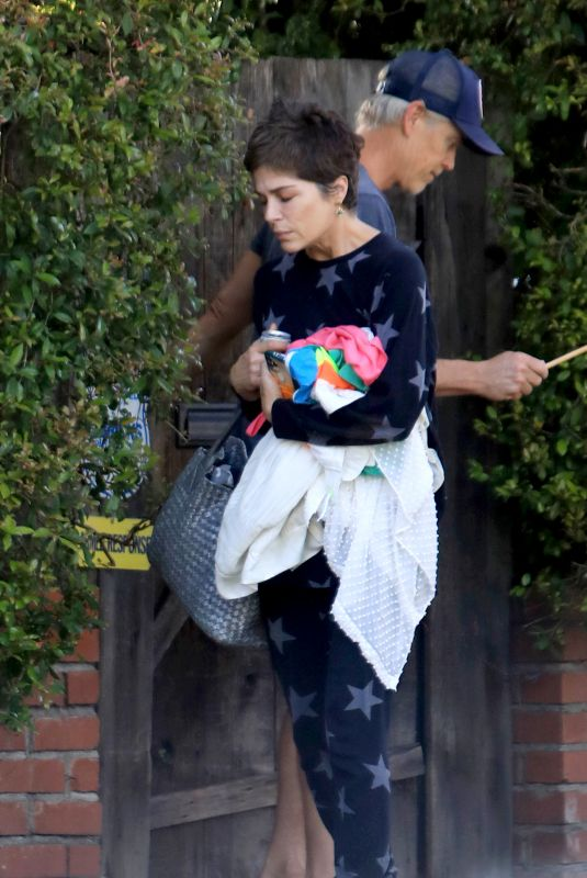 SELMA BLAIR and Ron Carlson Out on Memorial Day in West Hollywood 05/25/2020