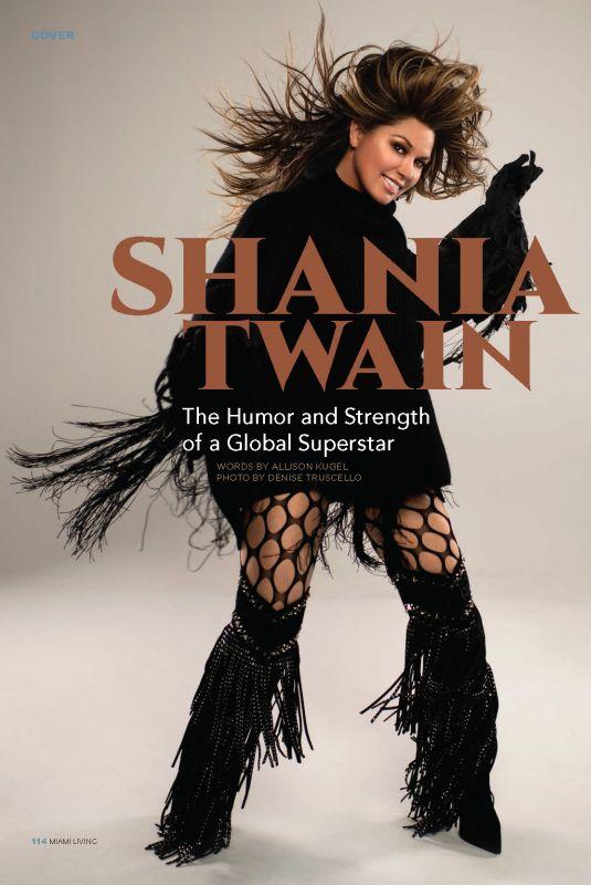 SHANIA TWAIN in Miami Living Magazine, April/May 2020