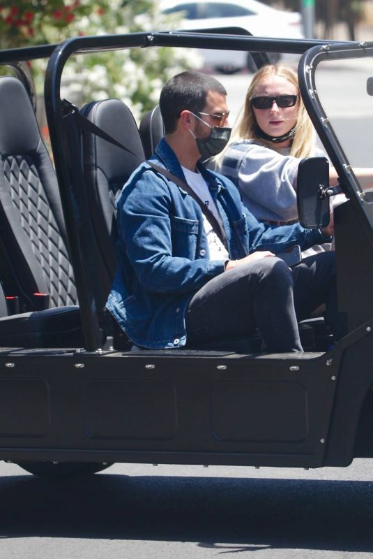 SOPHIE TURNER and Joe Jonas Out Driving in Los Angeles 05/23/2020