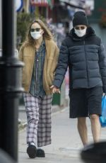 SUKI WATERHOUSE and Robert Pattinson Wearing Masks Out in London 05/13/2020