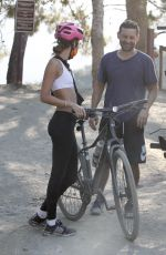 TATIANA DIETEMAN Out Riding a Bike in Brentwood 05/28/2020