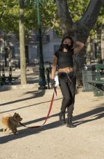 THYLANE BLONDEAU Out with her Dog in Saint-tropez 05/11/2020