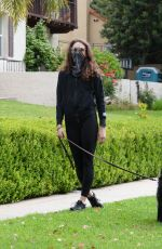 TROIAN BELLISARIO Out with Her Dog in Los Angeles 05/12/2020