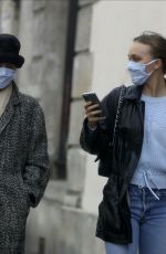 VANESSA PARADIS and LILY-ROSE DEPP Out in Paris 05/13/2020