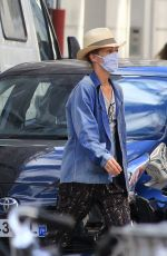 VANESSA PARADIS Wearing Mask and Hat Out in Paris 05/20/2020