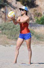 ALESSANDRA AMBROSIO in Swimsuit Playing Volleyball at a Beach 06/21/2020