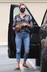 ALESSANDRA AMBROSIO Leaves a Spa in Los Angeles 06/16/2020