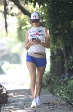 ALESSANDRA AMBROSIO Out Jogging in Brentwood 06/11/2020