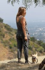 ALICIA SILVERSTONE Out Hiking with Her Dogs in Los Angeles 06/26/2020