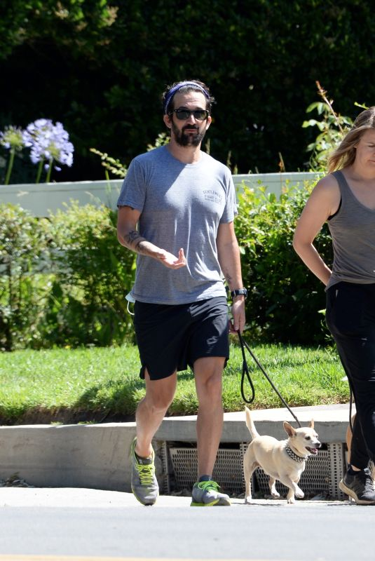 ALICIA SILVERSTONE Out Walks Her Dog in Los Angeles 06/14/2020
