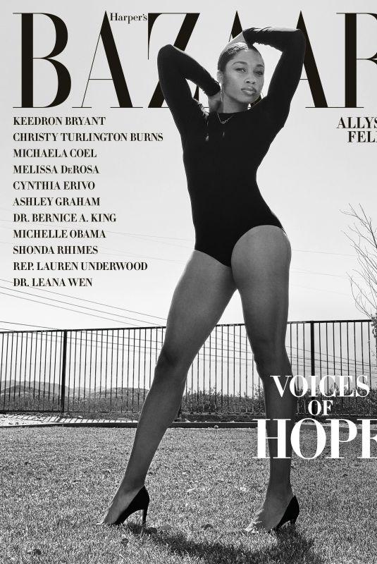ALLYSON FELIX on the Cover of Harper's Bazaar Magazine, July 2020