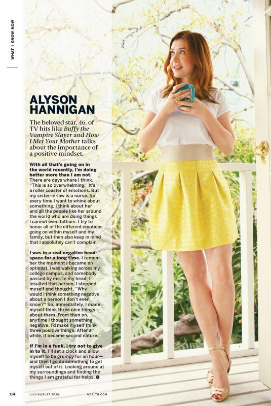 ALYSON HANNIGAN in Health Magazine, July/August 2020