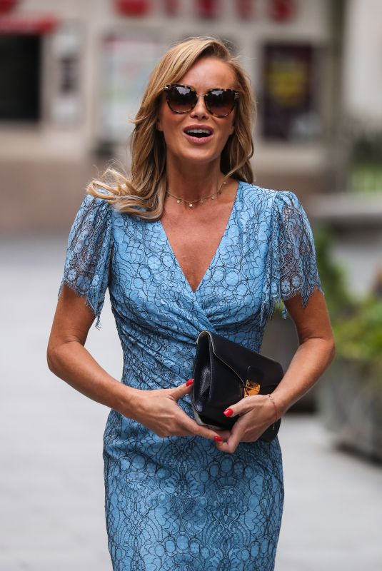 AMANDA HOLDEN Leaves Heart Radio in London 06/29/2020