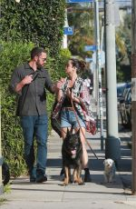 ANA DE ARMAS and Ben Affleck Out with Their Dogs in Santa Monica 06/29/2020