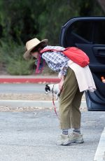 ANDIE MACDOWELL Out Hiking with Her Dogs in Los Angeles 06/11/2020