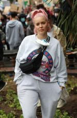 ANNE MARIE at Black Lives Matter Protest in London 06/03/2020