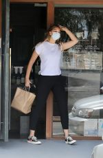 APRIL LOVE GEARY at a Gas Station in Malibu 06/25/2020