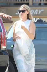 APRIL LOVE GEARY at a Subway Restaurant in Malibu 06/29/2020