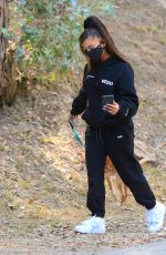 ARIANA GRANDE Out Hikinig with Her Dog in Los Angeles 06/21/2020