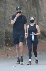 ASHLEY BENSON and G-Eazy Out Hiking in Los Angeles 06/25/2020