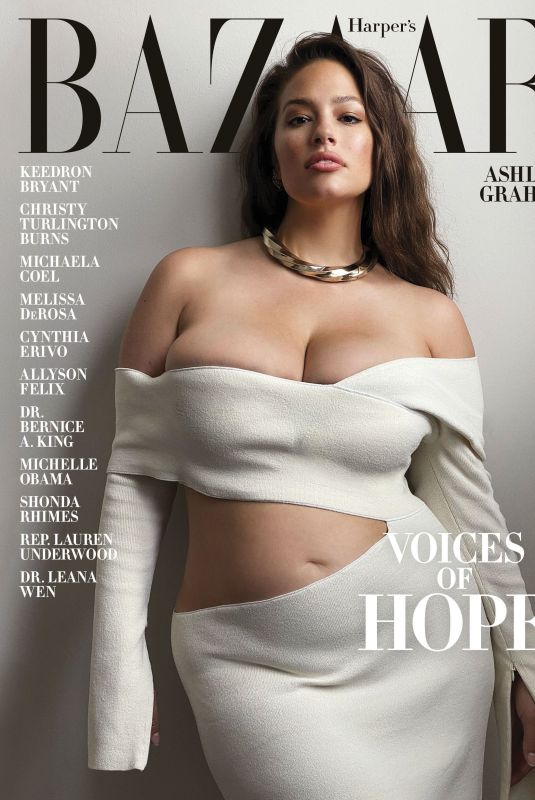 ASHLEY GRAHAM on the Cover of Harper's Bazaar Magazine, July 2020