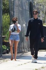 ASHLEY TISDALE and Christopher French Out Shopping in West Hollywood 06/22/2020