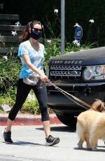 AUBREY PLAZA Walks Her Dogs in Los Feliz 06/27/2020