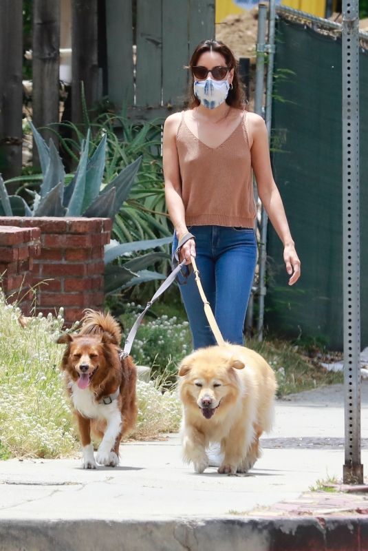 AUBREY PLAZA Walks with Her Dogs Out in Los Feliz 06/06/2020
