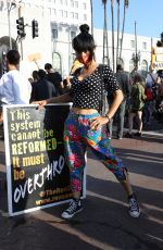 BAI LING at George Floyd, Black Lives Matter Protest in Los Angeles 06/04/2020