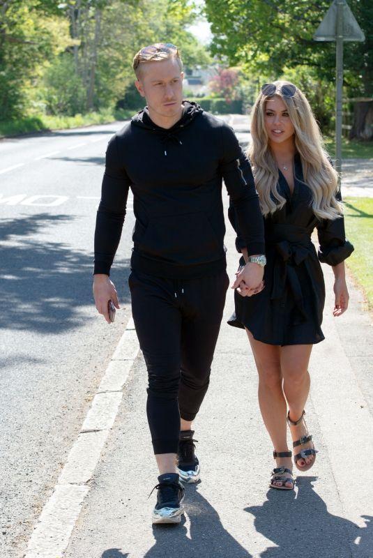 BIANCA GASCOIGNE and Kris Boynson Out in Gravesend 06/15/2020