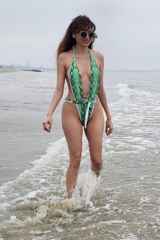 BLANCA BLANCO in Swimsuit at a Beach in Malibu 06/27/2020