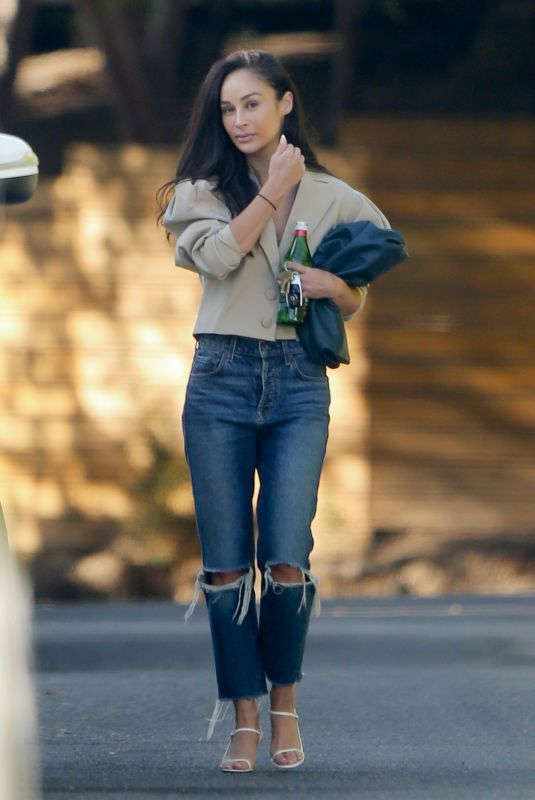 CARA SANTANA in Ripped Denim Out in Los Angeles 06/24/2020