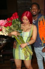CARDI B Out for Dinner in Los Angeles 06/22/2020