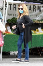 CATHERINE BACH Shopping at Farmers Market in Los Angeles 06/28/2020