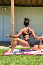 CHANTAE MCMILLAN Workout at Her Home - Instagram Photos 06/17/2020
