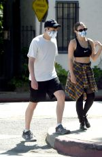 CHARLI XCX and Huck Kwong Wearing Masks Out in Los Angeles 06/04/2020